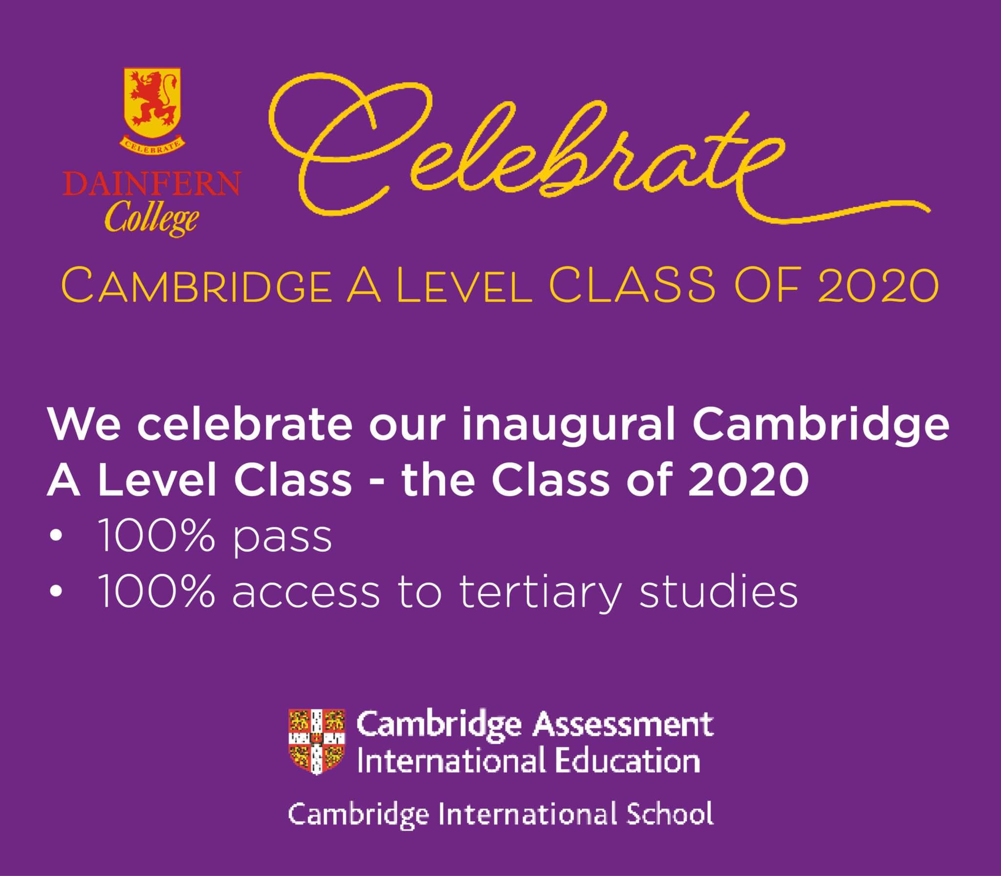 Celebrating the inaugural Cambridge Studies Class of 2020 2